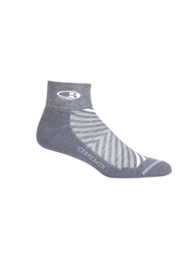 Icebreaker Run Plus Chaussettes de course ultra légères pour homme XL Twister Heather/White