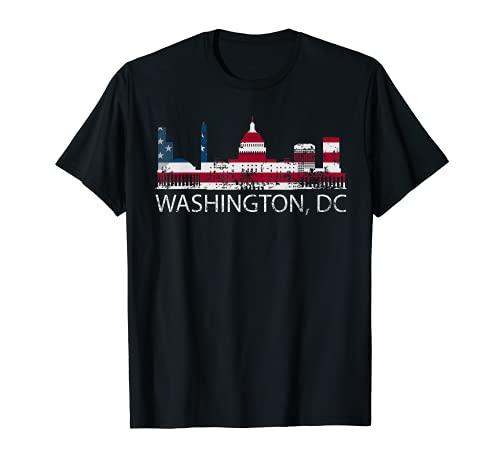 Washington DC Capitol Hill USA Flag Souvenir design T-Shirt