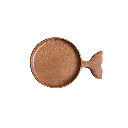 Dipping Sauce Dish, Creative Wooden Japanese Fish Design Dipping Platters for Home Kitchen Party