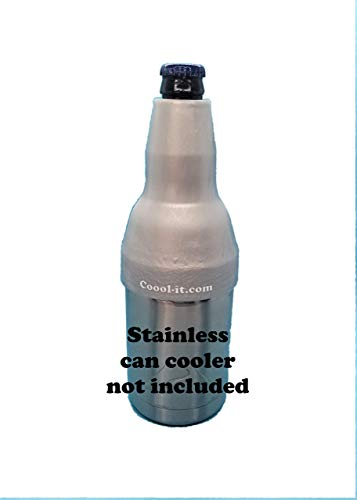 Coool-it,Silicone Adaptor for Long Neck Beer Bottles.Convert Your Stainless Can Cooler to Best Long Neck Bottle Insulator. Fits Yeti/RTIC/Ozark Trail Can Coolers.Adapter Only (Platinum)