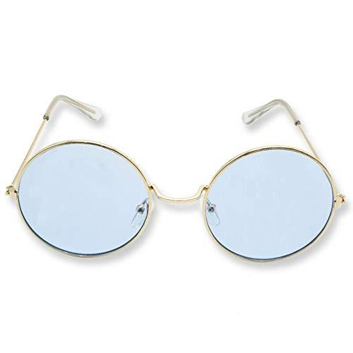 John Lennon gafas de sol estilo redondo retro vintage 60s 70s gafas hippie, Azul dorado.,