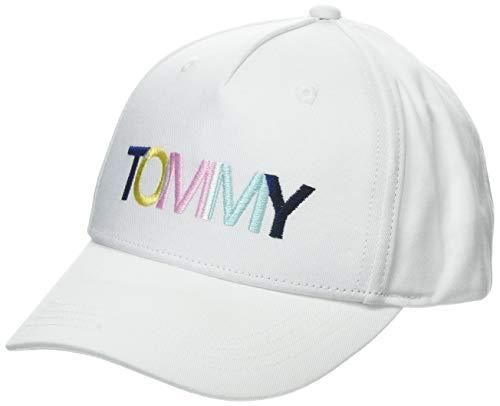 Tommy Hilfiger Jungen College Tommy Cap Kappe, Weiß (Bright White 104), L (Herstellergröße: L-XL)