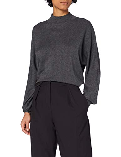 edc by ESPRIT Damen 110CC1I323 Pullover, 023/DARK Grey 4, M