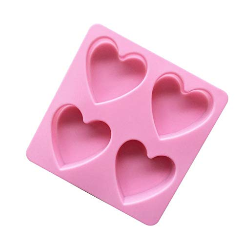 1PC Rosa De Silicona De Hornear Pastel De Forma De Corazón Molde Lindo Jalea Pudin Chocolate DIY Moldes De Pastel Herramientas Accesorios De Cocina Dropship