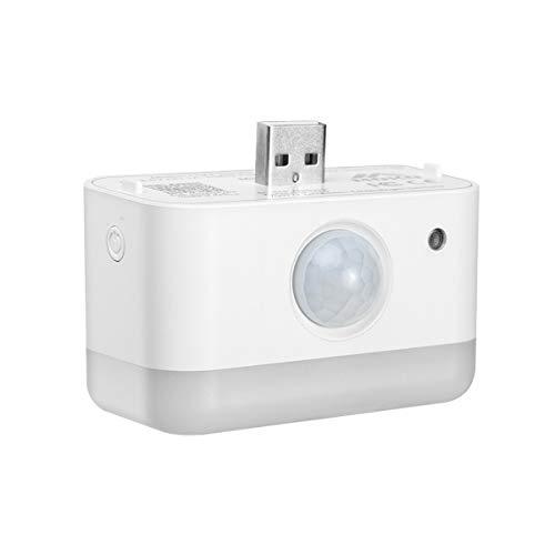 MoKo Capteur de Veilleuse Intelligente, Lampe Nuit Murale Automatique USB avec Capteur Intégré Luminosité RGB Réglable Sensible Détection de Mouvement PIR Contrôle Vocal pour Echo Flex, 1 Pcs