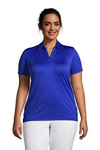 토지의 끝 여성의 짧은 소매 빠른 건조한 스포츠 목 폴로 셔츠
