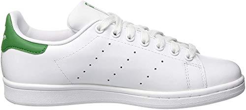 adidas Unisex-Erwachsene Stan Smith Sneakers, Weiß (Footwear White/footwear White/green), 40 EU