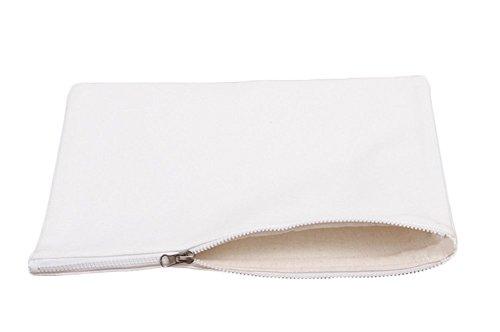 Nikgic Baumwolle Soho Geldbeutel Kosmetiktasche Eintritt Paket Mini Geldbeutel kleine Geldbörse Mini-Portemonnaie Weiße