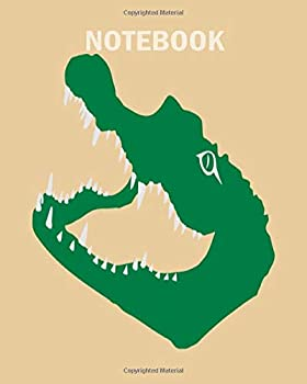 Notebook  crocodile alligator croc gator kaiman - 50 sheets 100 pages - 8 x 10 inches