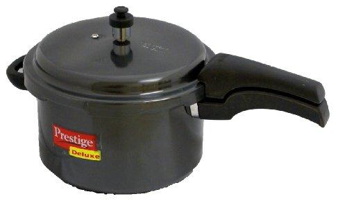 Prestige Deluxe Hard Anodized Black Color Pressure Cooker, 5-Liter