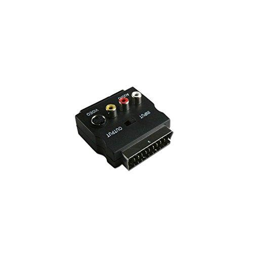 Connectland AD-PERITEL-SVHS-RCA Adaptateur pour Vidéo S-VHS/S-Vidéo Noir