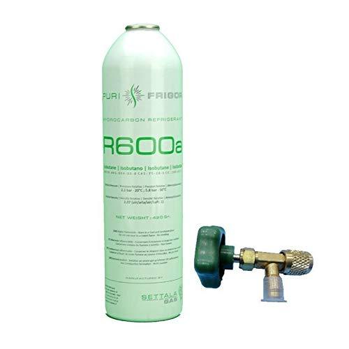 REPORSHOP - Botella Gas Refrigerante R600 Valvula 420Gr Isobutano