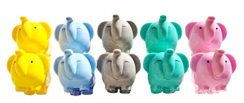 AARainbow Pack of 10 Pencil Sharpener, Cute Elephant Sharpener with Screw-on lid, Compact Size for Pencil case and Work-Station,School Home Using for kids