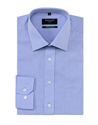 Bexleys man by Adler Mode Herren Dresshemd mit Langarm in Regular FIT hellblau 45