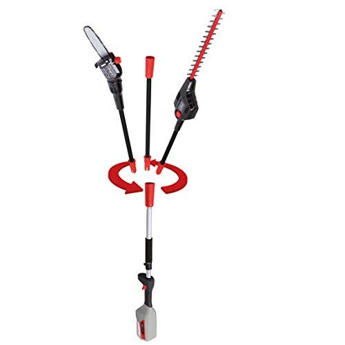 scheppach 2 in 1 Heckenschere-Hochentaster BPT700-40Li - ohne Akku und Ladekabel | 410 mm Schnittlänge | 8