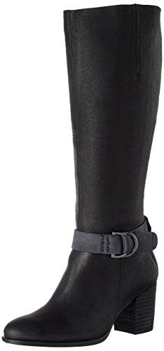 ECCO Women's Shape 55 Tall Riding Boot, Black/Black, 7-7. 5