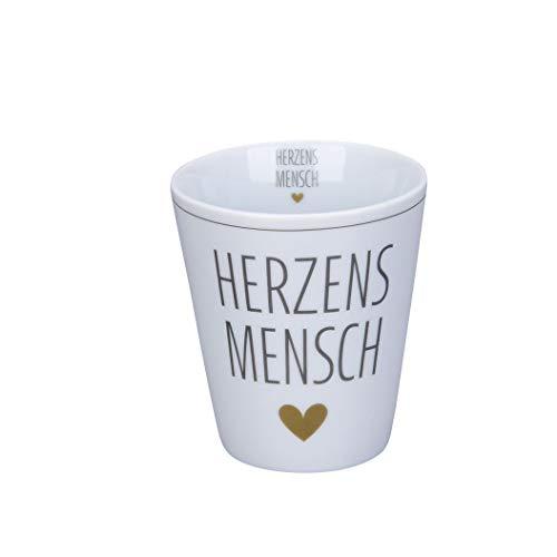 Krasilnikoff - Becher, Tasse - Happy Mug - Herzensmensch - Höhe: 10 cm - Volumen: 330 ml