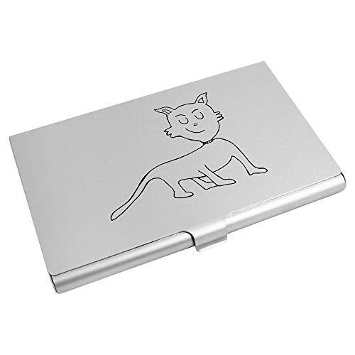 Azeeda 'Happy Cat' Business Card Holder / Credit Card Wallet (CH00023587)