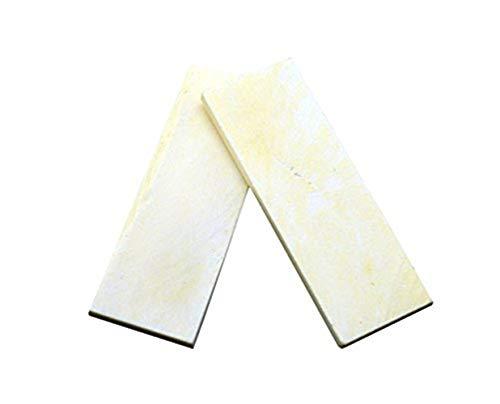 Aibote 2 stück Natürliche Rinder Knochenmesser Griff Waagen Platten für Messer Machen Rohlinge Klingen Benutzerdefinierte DIY Material Werkzeuge