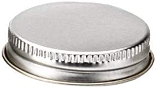 24 Silver Metal Spice Bottle Caps, Lids for Spice Jars, 43mm For Spice Bottles by SpiceLuxe