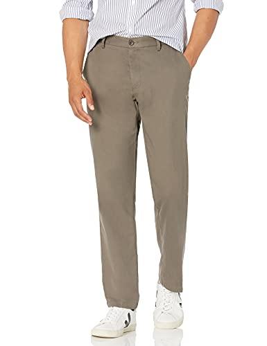 Amazon Essentials – Pantalón chino sin pinzas en la parte delantera, resistente a las arrugas, de corte recto para hombre, Beige (Taupe), 28W x 30L