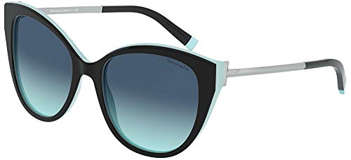 Tiffany Occhiali da Sole T TF 4166 BLACK TURQUOISE/BLUE SHADED 55/18/140 donna