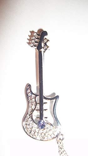 Brightness Uique Design Elegant brooches Joyas de Cristal, Broche de Hebilla Doble de Guitarra de Gama Alta Personalizado