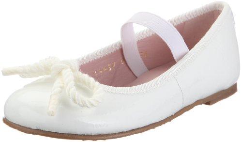 Pretty Ballerinas 38173-R Ballerines pour Fille - - Trèfle Blanc Blanco laqué, 25 EU