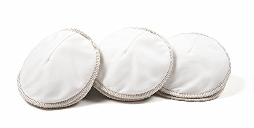 Mother Ease 6 Pack Premium Reusable Nursing Pads I Stops Embarrassing Leaks I All Day Comfort With No Itching Or Sticking I Washable Nursing Pads That Dont Bunch or Show Through