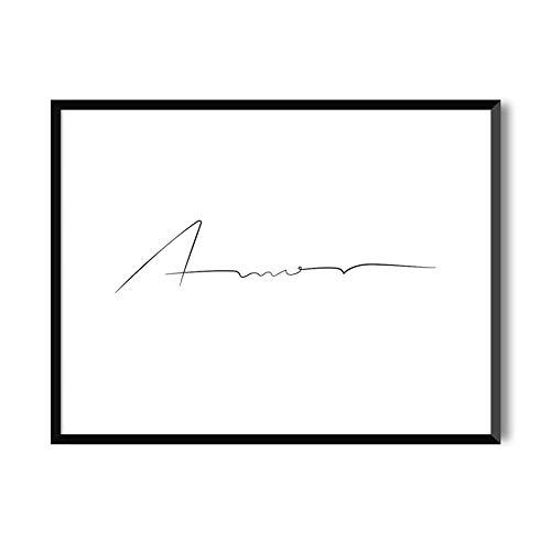 MILUKA Láminas Decorativas para enmarcar colección Mensajes | Amor | Tamaño 20x30cm, 30x40cm, 50x70cm (50 x 70 cm)