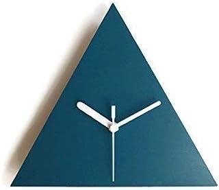 28cm Piccolo orologio muro silenzioso geometrico triangolare in molti colori come verde petrolio Funzionamento a batteria ...
