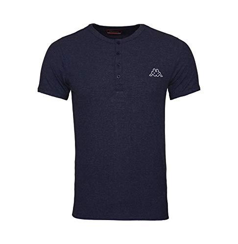 Kappa Ucola - Camiseta Unisex, Azul Vaquero, Talla L