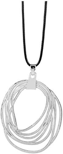 ZPPYMXGZ Co.,ltd Collar de película de Moda Joyería de Moda Justicia Collar de Mujer Maravilla Lazo de la Verdad Collares Pendientes Collar de Cadena de Cuerda Mujeres Hombres Regalos - Plateado