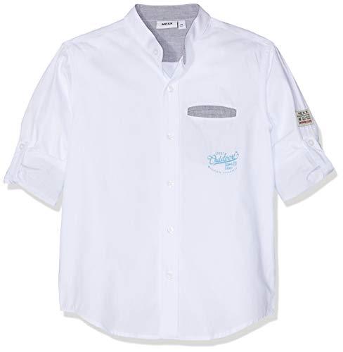 Mexx Jungen Hemd, Weiß (Bright White 110601), (Herstellergröße: 104)