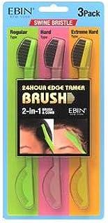 24 Hour Edge Tamer Brushes - 3 Pack - Swine Bristles