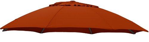 Sun Garden Ersatzbezug zum Easy, 100 prozent Polypropylen, Stoff B063, Durchmesser 375 cm, orange/terracotta