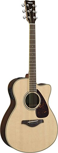 Yamaha FSX830C Small Body Solid Top Cutaway Acoustic-Electric Guitar, Natural