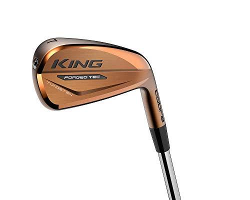 Cobra Golf 2021 King Forged Tec Copper Iron Set (Men'S, Right Hand, Steel, Reg Flex, 4-Pw)