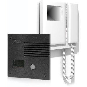 KIT portier vidéo Couleur-SV 1 logement GOLMAR 801se couleur (3 coaxial) antivandalico Couleur graphite