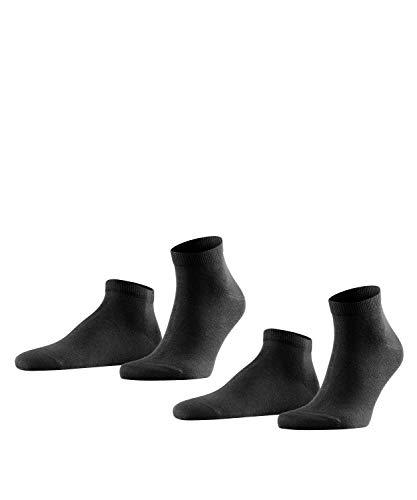 FALKE Herren Happy 2-Pack M SN Socken, Schwarz (Black 3000), 43-46 (2er Pack)