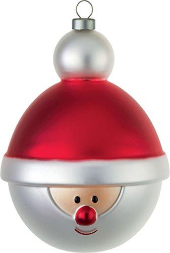 Alessi AMJ13 13 Babbonatale Palla Per Albero Di Natale, Vetro Soffiato, Multicolore, 1 Confezione Da 4 Pezzi