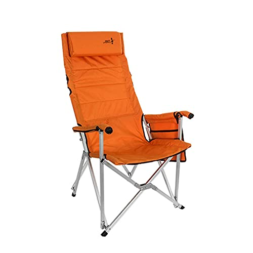 XXCHUIJU Folding Camping Chair, Lightweight Portable Foldable Seat Steel Frame High Back Arm Chair