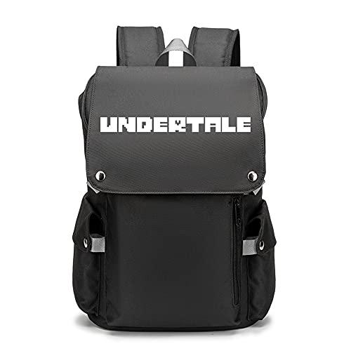 Undertale Das Spiel | Mochila juvenil con patrones personalizados para portátil de viaje, mochilas escolares para camping al aire libre, Opciones 8, amarilo,
