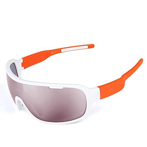 LCFF Gafas de Ciclismo Polarizadas,Gafas de Sol Deportivas con Montura,Lentes Intercambiables para Ciclismo Bicicleta Running Deportes Protección UV 400 Anti Viento para Hombre y Mujer