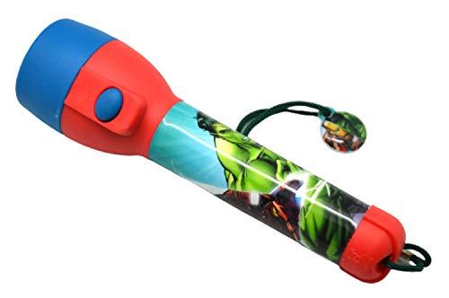 HOVUK - Flash a LED con licenza Disney personaggio Marvel Avengers, in plastica, grande torcia e luce notturna, regalo di Natale per ragazzi e ragazze di età superiore ai 3 anni