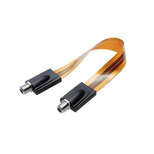 フラット同軸ケーブルワイヤメス - メス (超薄型)Fタイプ同軸コネクタジャックケーブル 折り曲げ可能 F端子型 コネクタジャックケーブル、デジタルオーディオビデオドアウィン 用