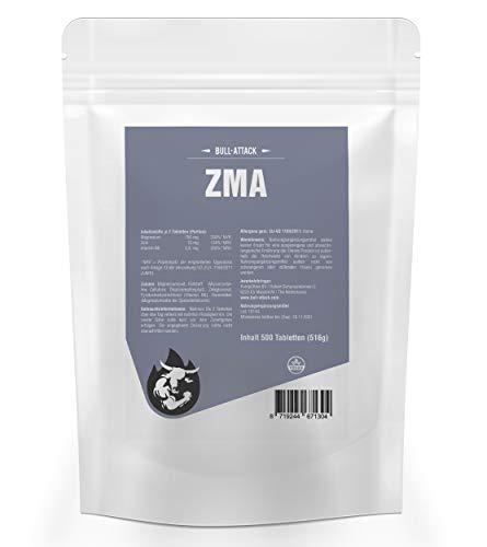 ZMA | 500 vegane Tabletten | Hochdosiert | Zink + Magnesium + Vitamin B6 | Unterstützt Muskelaufbau und Muskelfunktion | Premium Qualität hergestellt in Deutschland… (500)