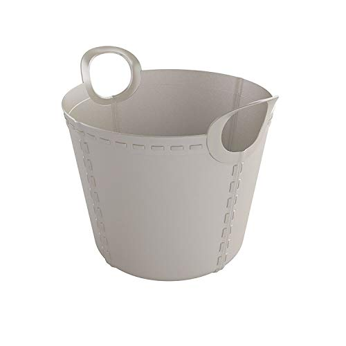 SP Berner Gris Barreño Grande | Cubo de Plastico con Asas-15 litros, 15 L