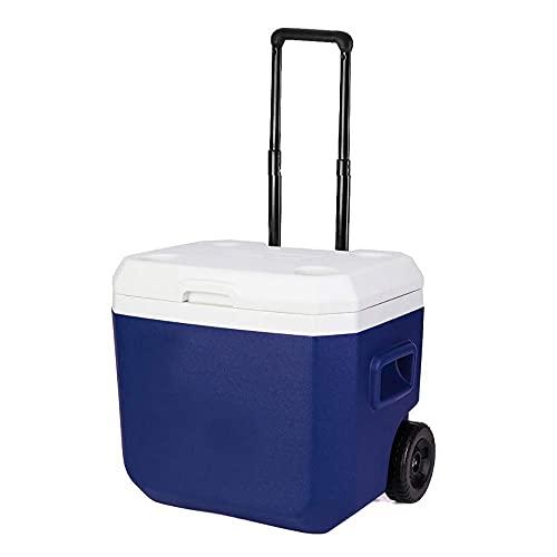 FHISD Refrigeradores portátiles de 52 litros para Cocina sobre Ruedas, 2 días de Vida útil en Hielo, Resistente al Agua, a Prueba de Fugas, a Prueba de Polvo, portátil, portáti