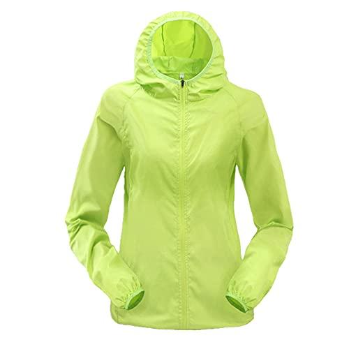 Mujeres Hombres Sun-Protect ultraligero impermeable chaqueta bicicleta cortavientos